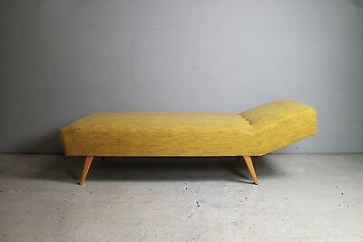 1970's Midcentury Yellow Day Bed