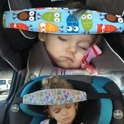 Kid Travel Strap Baby Car Seat Safety Headrest Pillow Sleeping Head Support Pad