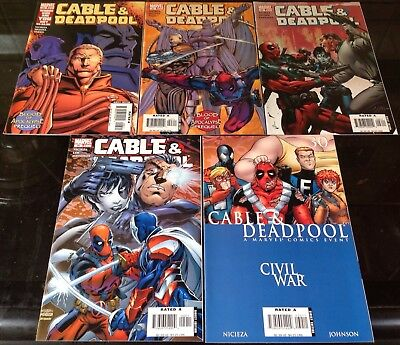 Cable And Deadpool #26,27,28,29,30 Marvel 2004 Fabian Nicieza Civil War