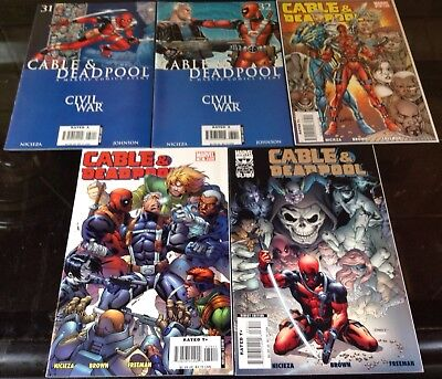 Cable And Deadpool #31,32,33,34,35 Marvel 2004 Fabian Nicieza Civil War