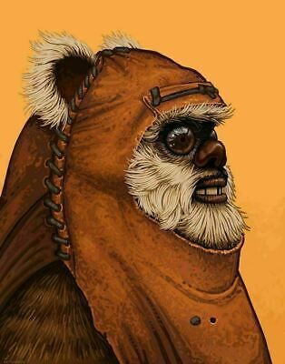 Wicket - by Mike Mitchell - Star Wars - Mondo Poster Print XX/1215