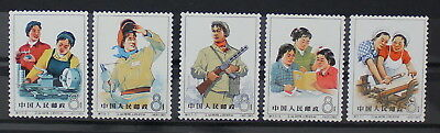 China PRC, 1965, S71,  Women in Industry, Set of Mint Stamps #m12