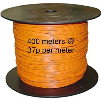 16 AWG TE.com 19 Strands 99M, Orange Hook-Up Wire, 105C 600V 400MTRS Approx  New