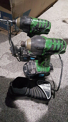 Hitachi WH18DL Impact Drivers x2 with Charger