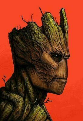 Groot - by Mike Mitchell - Guardians - Mondo Poster Print XX/810