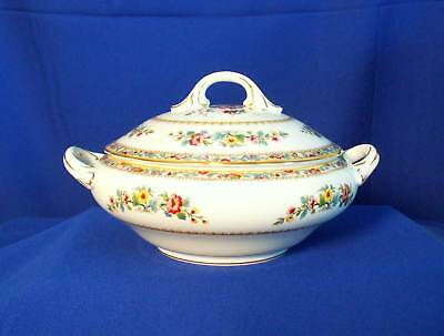 Coalport England Ming Rose 10316 White Round Covered Vegetable Bowl bfe2581