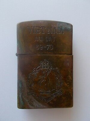 Vietnam Nui Dat 69-70 Zippo Lighter Royal Australian ? Ours Is Not To Do Or &