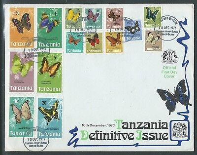 Tanzania 1973 Butterflies Fdc To High Values Nice!