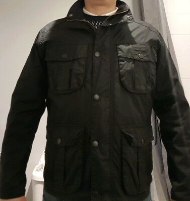 Genuine Barbour mens wax Utility Jacket, Size Medium (fits large), Mint!