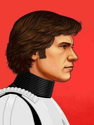 Han Solo - by Mike Mitchell - Star Wars - Mondo Poster Print XX/1230
