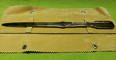 ~*~ Vintage Classy RICCI ARGENTIERI Italy Silver Plated Large Letter Opener ~*~