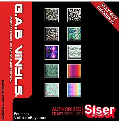 A4 sheets-Siser Easy Patterns HTV PREMIUM Vinyl IRON ON/HEAT PRESS/Cricut