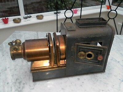 Rare Unusual Magic Lantern Projector Copper Lens Assembly Good Lens & Condenser