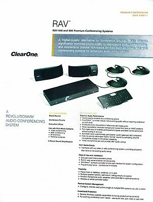 ClearOne Rav 900 with Ceiling Speakers Part # 910-153-301 Factory sealed box