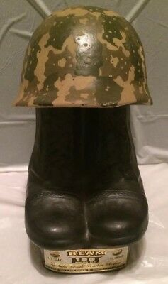 "Vintage 1975 ""Army Boots and Helmet"" Jim Beam Decanter"