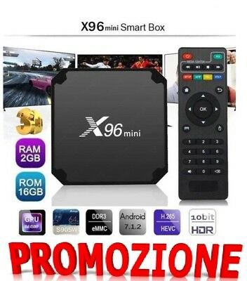 Smart TV BOX X96 MINI Android 7.1 Nougat S905W 2GB RAM 16GB KODI 4K IPTV 5 CORE