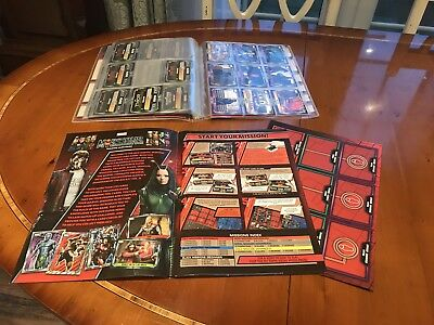 Marvel missions trading card Collectors Binder and cards
