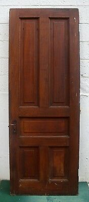 "29.5""x84 Antique Vintage Victorian Solid Cypress Wood Wooden Interior Door Panel"