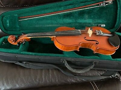 Gliga 4/4 Highly Flamed Violin String Band Instrument w/Case & Bow