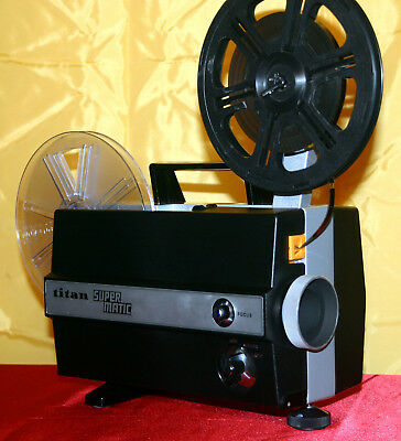 TITAN SUPERMATIC SUPER 8mm SILENT MOVIE PROJECTOR  FULLY SERVICED EXCELLENT A1