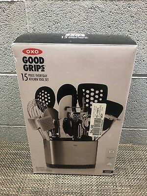 OXO Good Grips 15 Piece Everyday Kitchen Tool Set Heat Resistant NEW
