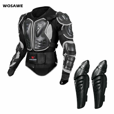 Motorbike Chest Back Knee guards Motorcycle motocross Armour Jacket knee pads
