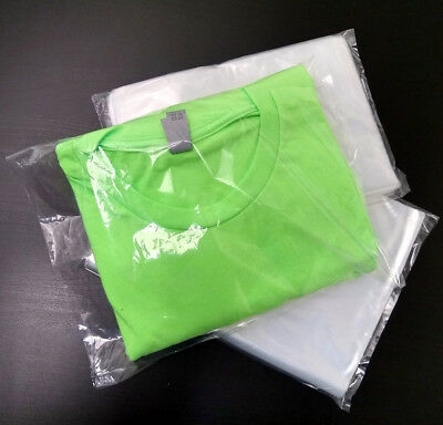 """100 -12"""" x 18"""" Clear Open End Bag Poly Plastic Bags Clothing Food Apparel 1mil"""