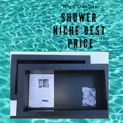 Shower Niche 16X28 Bathroom Caddy Recessed Shelves Set of 2 Plastic Ready Tiles