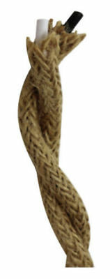 Twisted Jute Cloth Covered Electric Lamp Cord Wire Sold by the Foot