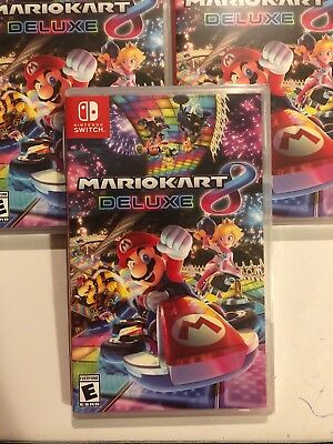 Brand New Mario Kart 8 Deluxe Nintendo Switch Video Game Sealed  US Shipping.