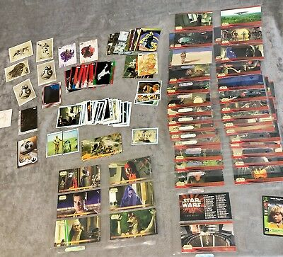 Huge Star Wars Card Lot Subsets Chase Stickers Widevision 1996 Panini Topps Rare