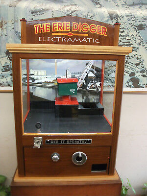 10c COIN-OP CRANE. VINTAGE ADDITION for HOME GAME ROOM, COLLECTION, or BUSINESS