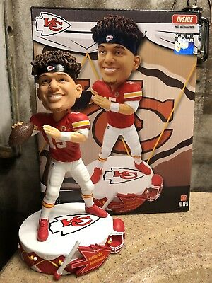 "PATRICK MAHOMES Kansas City Chiefs ""Beat the Drum"" NFL EXCLUSIVE Bobblehead NIB!"