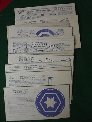 1940's Nabisco Shredded Wheat Toytown Carnival Premium Cereal Card Lot of 20