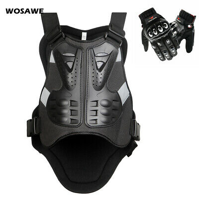 Adult Motorcycle Chest protective Armor Vests Motorbike Touch screen Gloves Mens