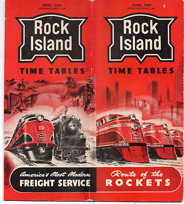 Rock Island Lines CRI&PRR Public Timetable June 3 1945
