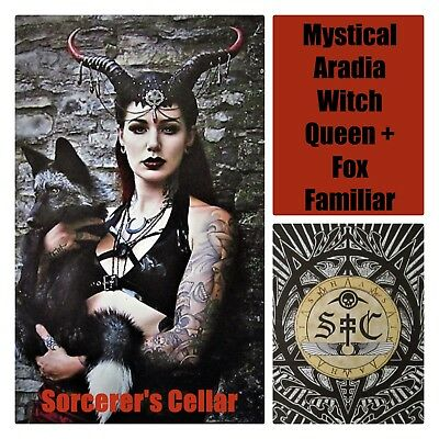 Sorcerer's Cellar: Aradia Witch-Queen & Fox Familiar *Occult Artifact + Binding