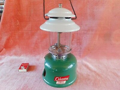 Old Rare Vintage Green Coleman Lp Gas Lantern Pressure Lamp Made In U.s.a.