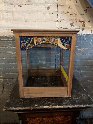 Popcorn Glass Display Antique Movie Theater Cabinet Excel Electric Company