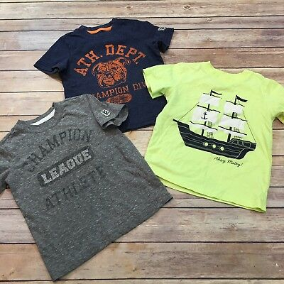 Lot Of 3 Carter's Size 3T Toddler Boys Short Sleeve Tops T-Shirts C1/P