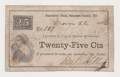 Willing scrip , Nanticoke Wicomico MD Maryland, obsolete note currency not bank
