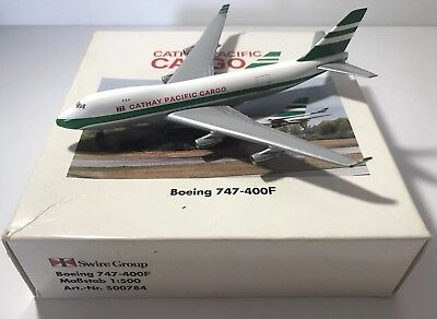 Cathay Pacific 747-400F 1:500 Exclusive Model Herpa LIMITED