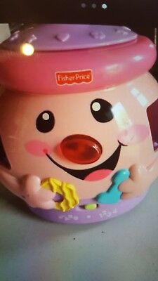 Fisher Price Pink Laugh and Learn Cookie Jar Shape Surprise Sorter Educational