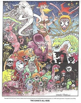 THE GANG'S ALL HERE!....a poster by Wallace Wood and Bill Pearson