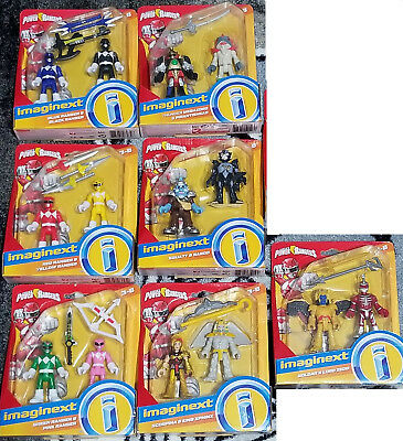 MMPR NEW! Total of 14 Figures Fisher-Price Imaginext POWER RANGERS LOT OF 7