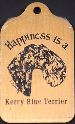 Happiness is a Kerry Blue Terrier Rectangular Metal Key Chain Keychain Ring