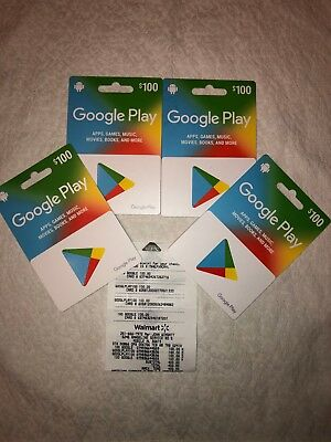 Google Play Giftcards $400 worth