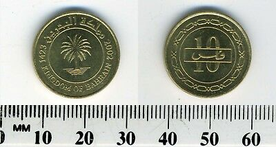 Bahrain 2002 (1423) - 10 Fils Brass Coin - Palm tree within inner circle