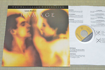 Damage: Special Edition / Laserdisc Insert USA CC1334L / Jeremy Irons