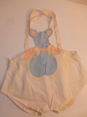 Vintage 1940S Baby Bear Boy Romper Shorts Outfit Or For Composition Doll